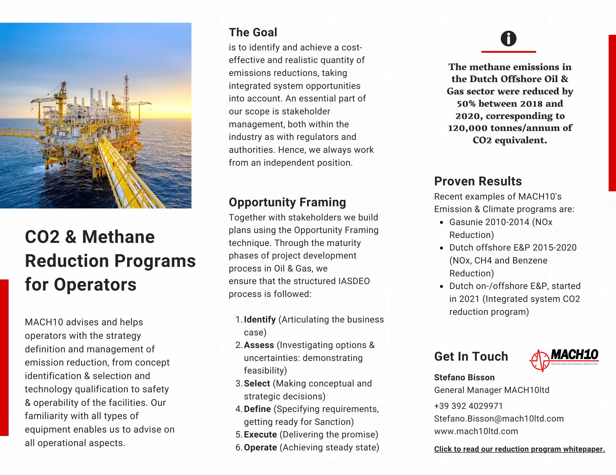 CO2 & Methane Reduction Programs for Operators